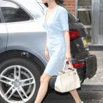 Selena Gomez Wears a Blue Dress in NYC 09/15/2017-4