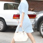 Selena Gomez Wears a Blue Dress in NYC 09/15/2017-5