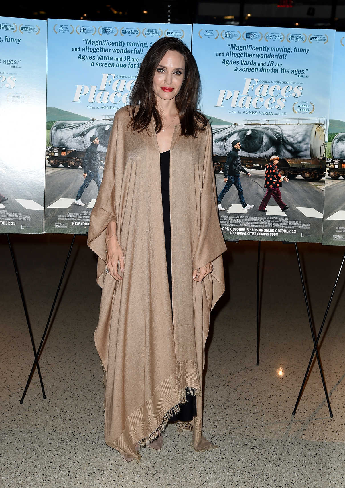 Angelina Jolie At The Faces Places Premiere At Pacific Design Center In West Hollywood 10 11 2017 3 Lacelebs Co
