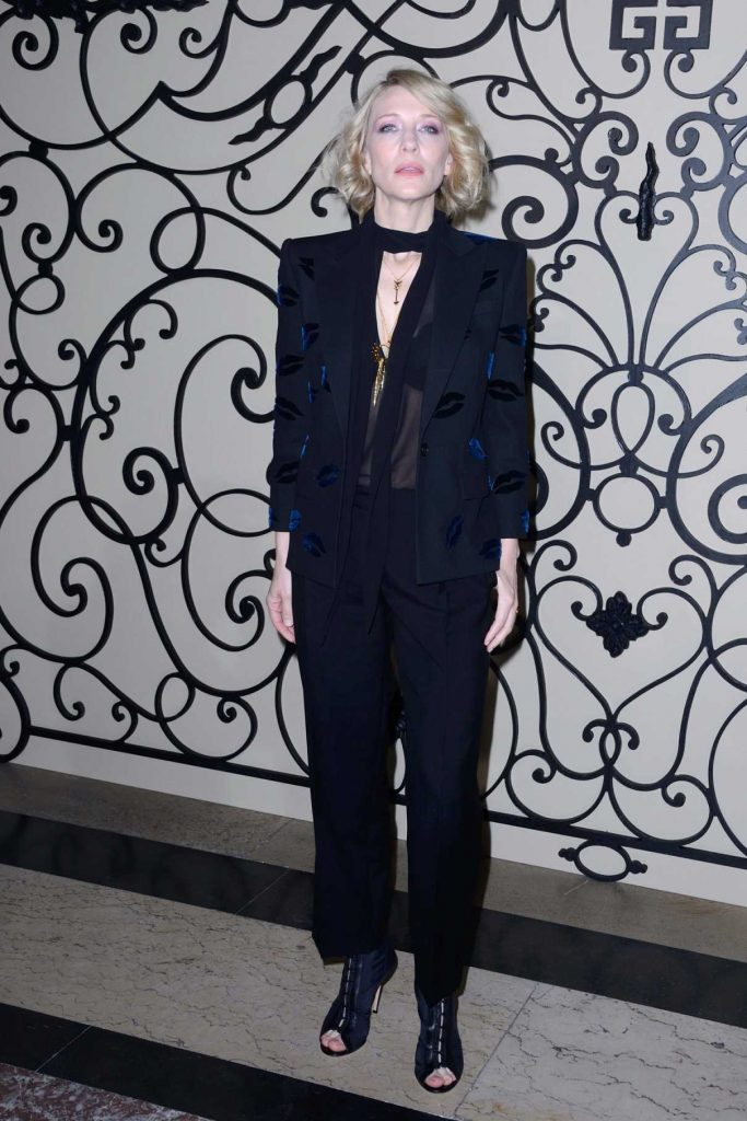 Cate Blanchett at the Givenchy Fashion Show During Paris Fashion Week 10/01/2017-1