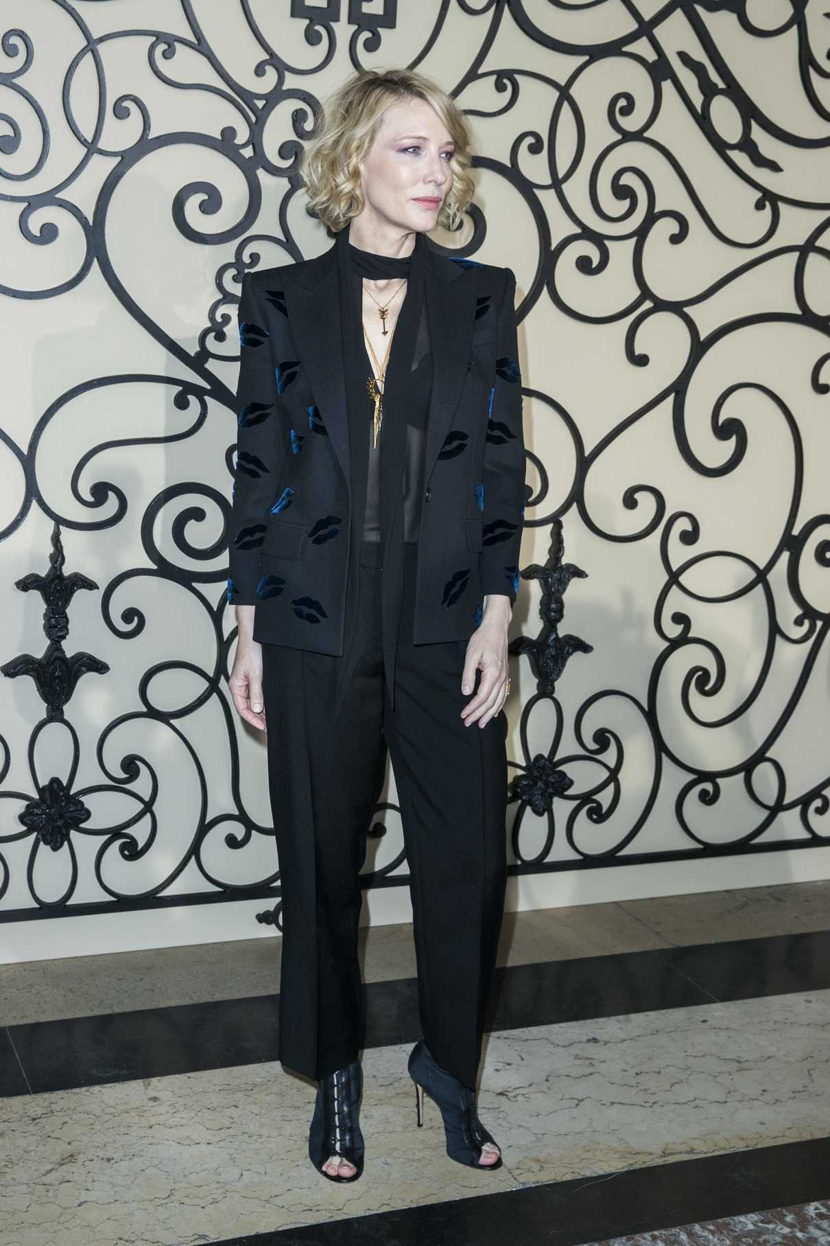 Cate Blanchett at the Givenchy Fashion Show During Paris Fashion Week 10/01/2017-4