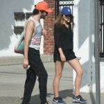 Elizabeth Olsen Walks With Her Boyfriend in Studio City 10/29/2017-3