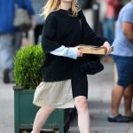 Elle Fanning Was See Out on a Pizza Run in NYC 10/05/2017-2