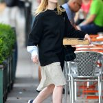 Elle Fanning Was See Out on a Pizza Run in NYC 10/05/2017-3