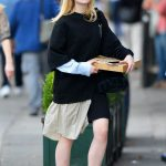 Elle Fanning Was See Out on a Pizza Run in NYC 10/05/2017-4
