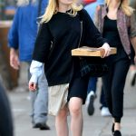 Elle Fanning Was See Out on a Pizza Run in NYC 10/05/2017-5