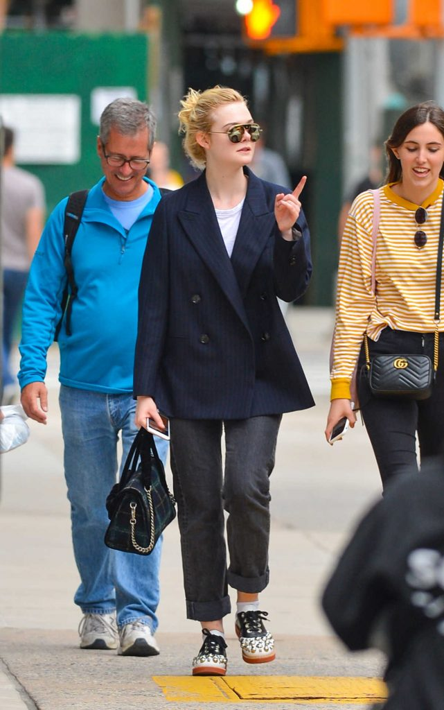 Elle Fanning Was Seen Out in NYC 09/30/2017-1