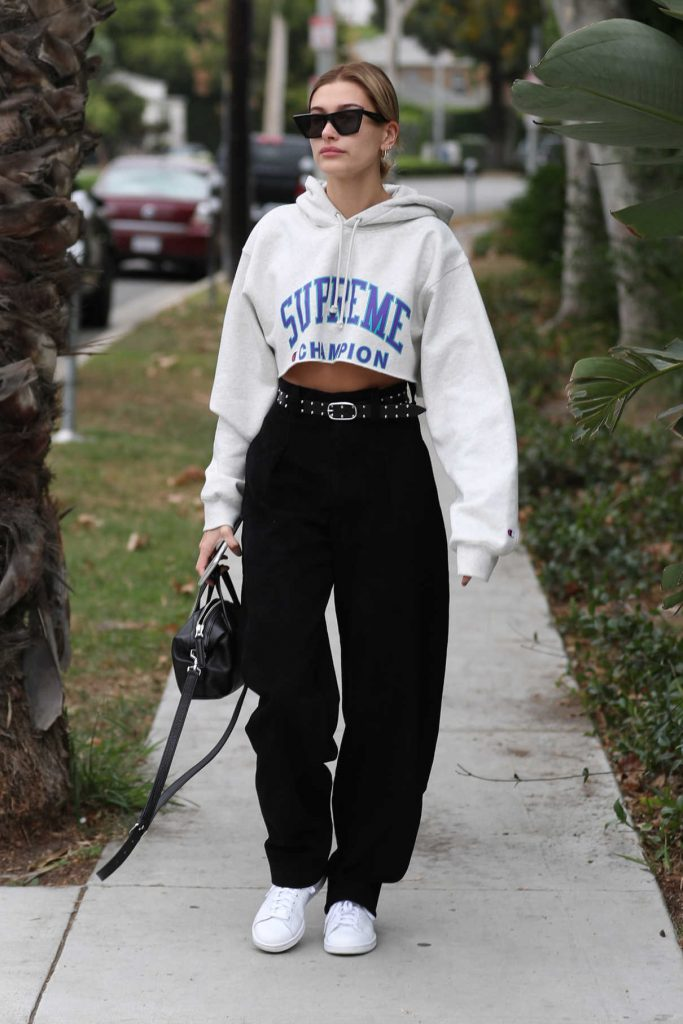 Hailey Baldwin Was Seen Out in West Hollywood 10/30/2017-1