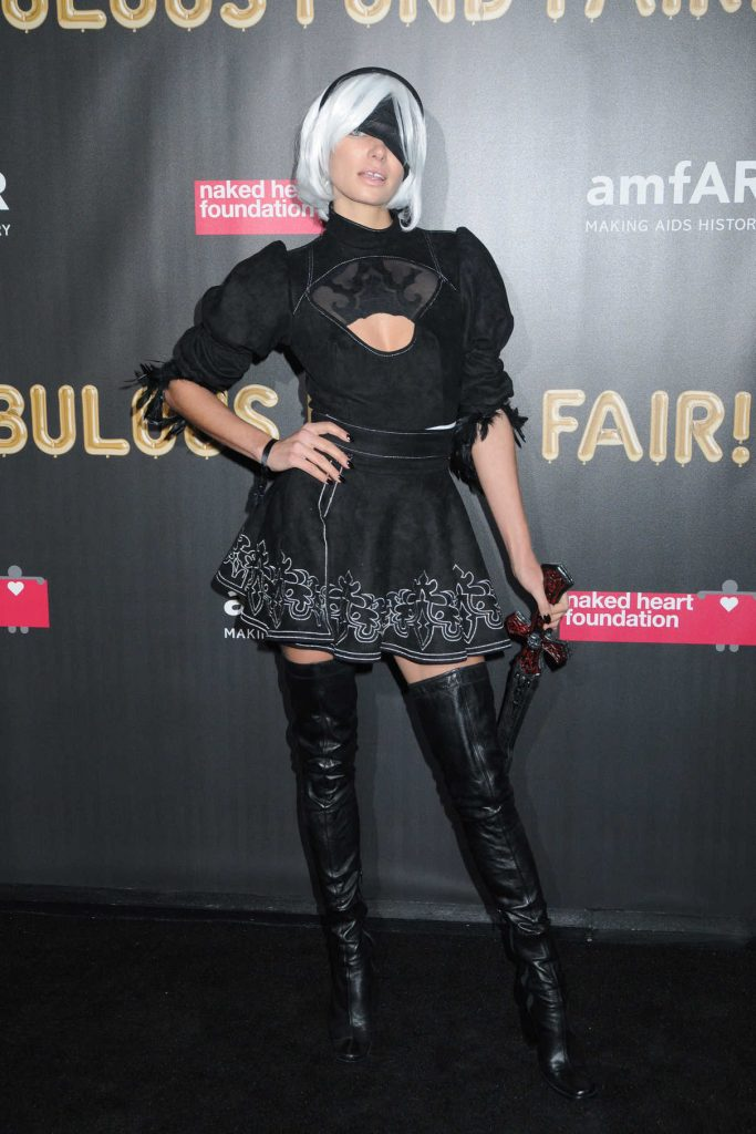 Jessica Hart at 2017 amfAR Fabulous Fund Fair in NYC 10/28/2017-1