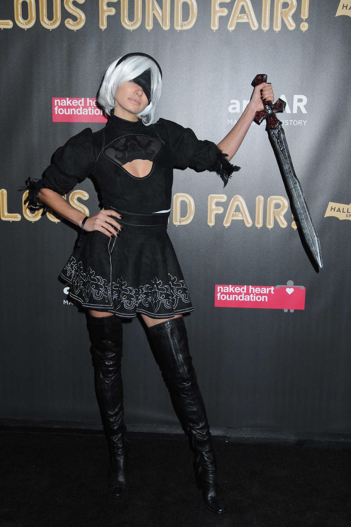 Jessica Hart at 2017 amfAR Fabulous Fund Fair in NYC 10/28/2017-2