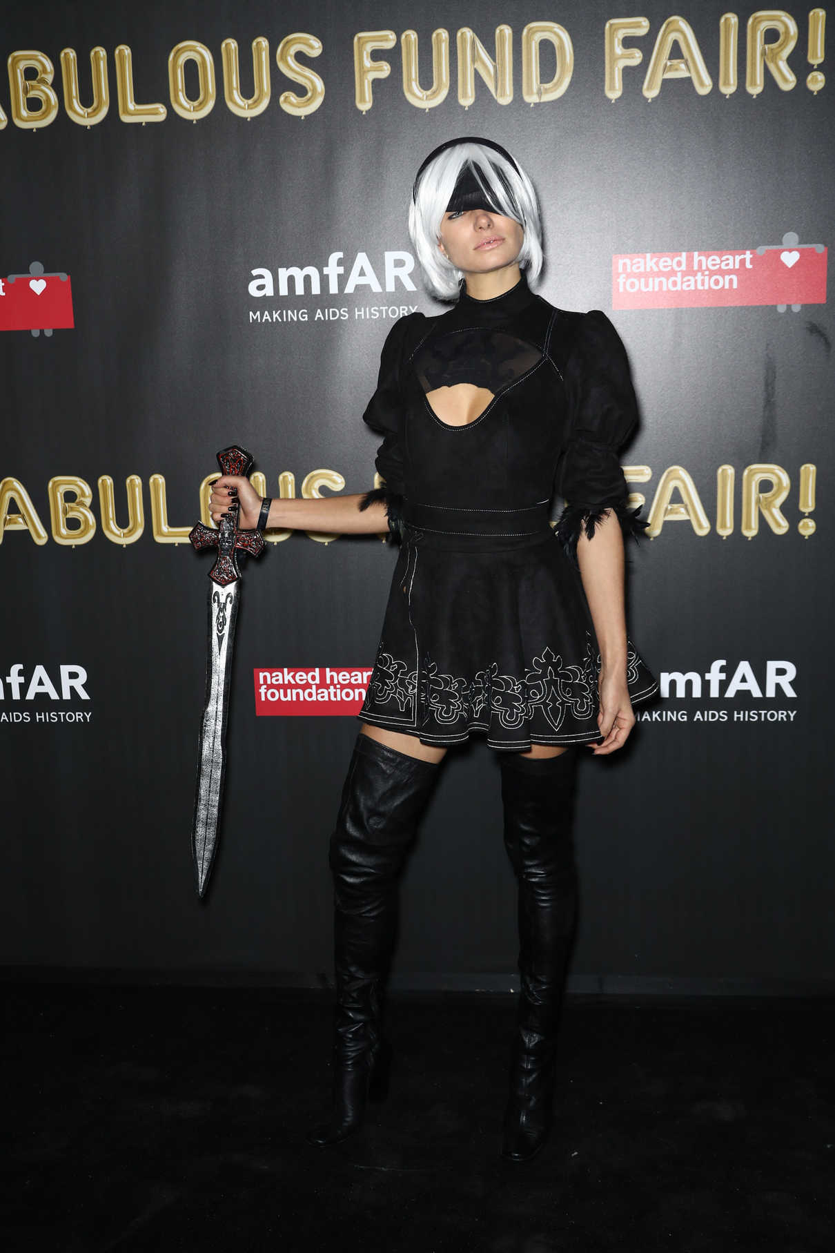 Jessica Hart at 2017 amfAR Fabulous Fund Fair in NYC 10/28/2017-3