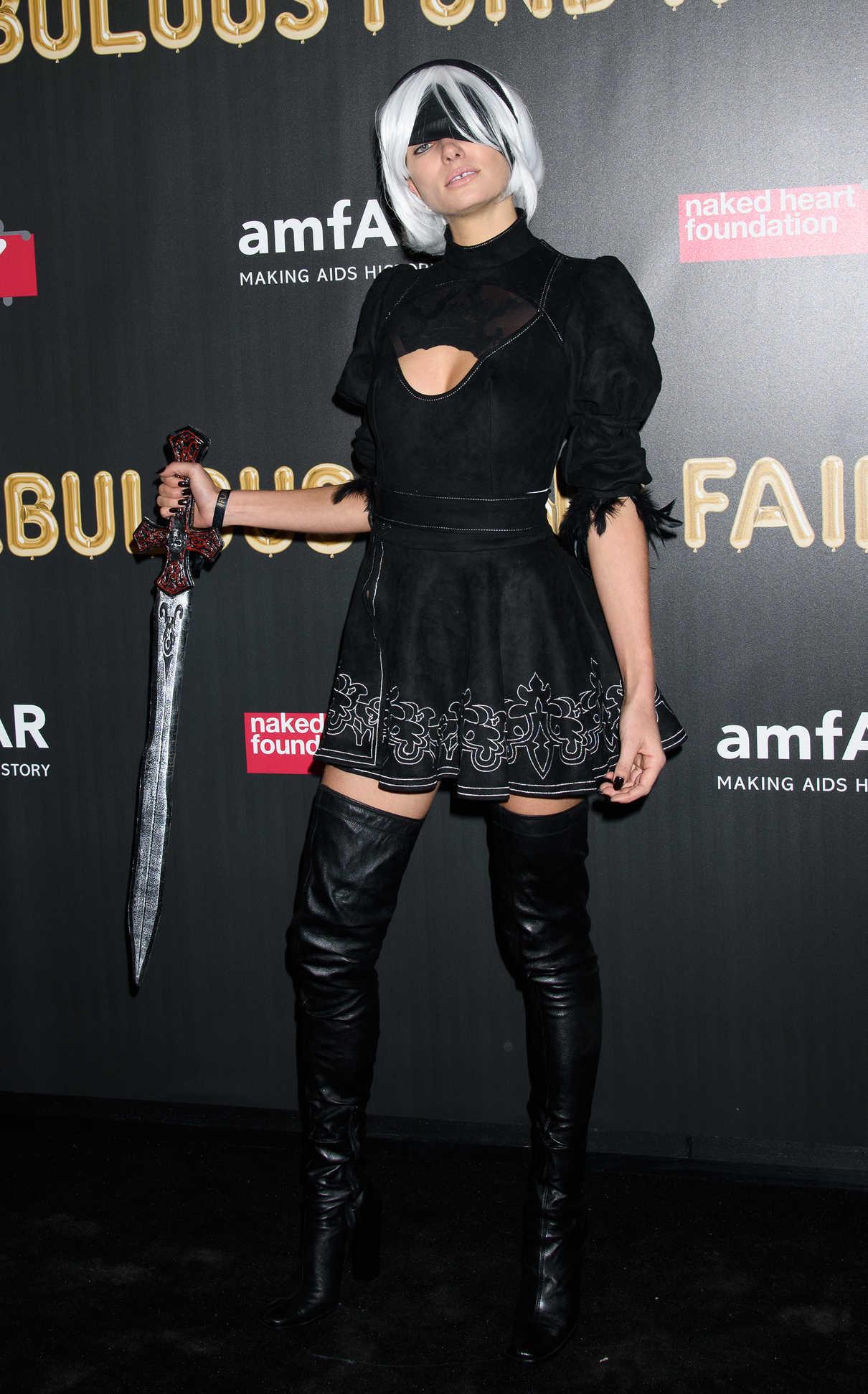 Jessica Hart at 2017 amfAR Fabulous Fund Fair in NYC 10/28/2017-4