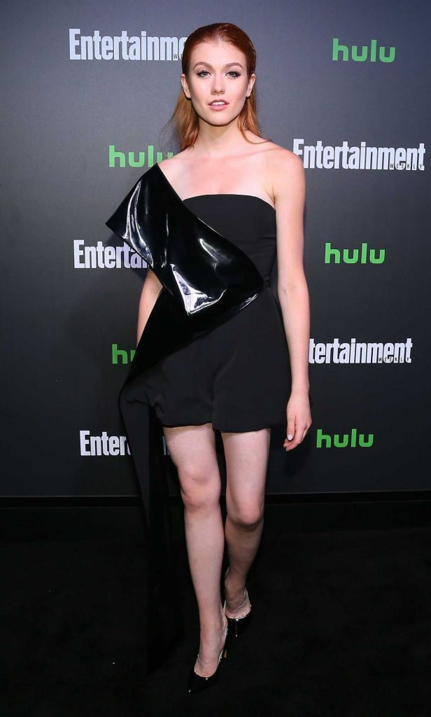 Katherine McNamara at Hulu and Entertainment Weekly New York Comic Con Party in New York 10/06/2017-1