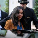 Laura Harrier Leaves the Bristol Hotel in Paris 10/03/2017-4