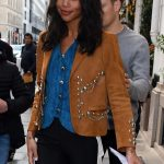 Laura Harrier Leaves the Bristol Hotel in Paris 10/03/2017-5