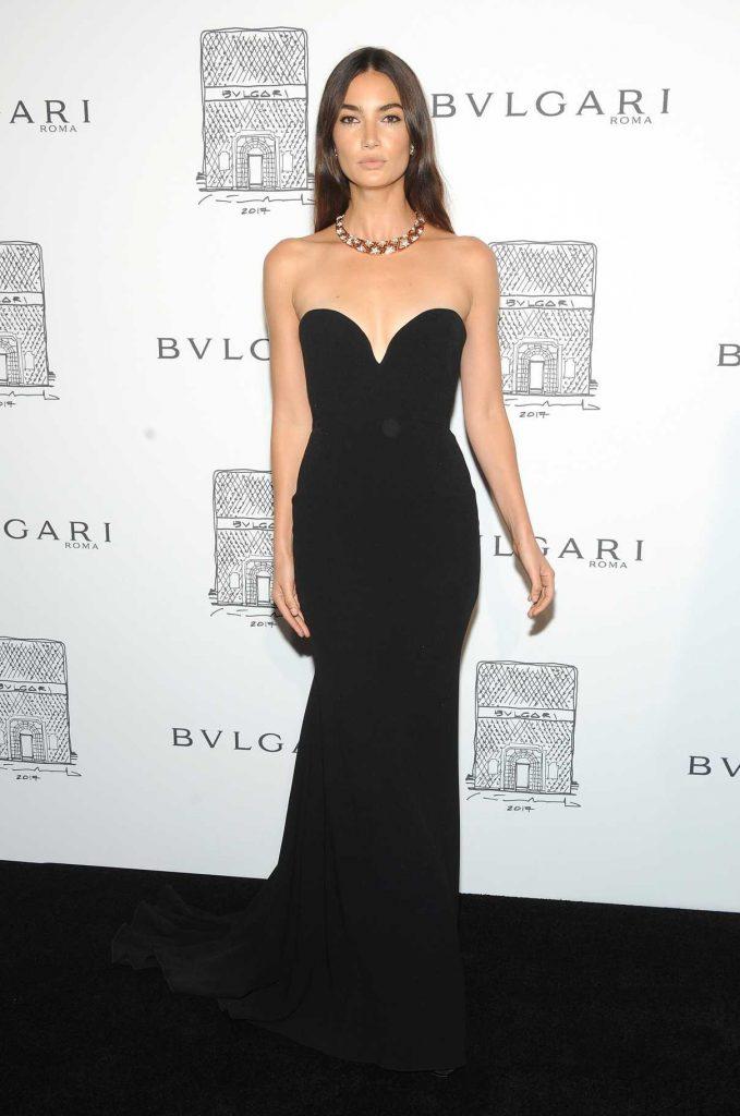 Lily Aldridge at the Bulgari Flagship Store Opening Celebration in New York 10/20/2017-1