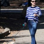 Olivia Wilde Walks Her New Dog Elvis Out in NYC 10/03/2017-2