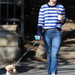 Olivia Wilde Walks Her New Dog Elvis Out in NYC 10/03/2017-4