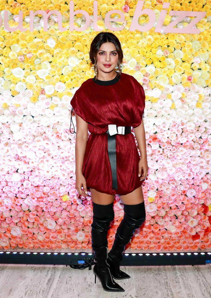 Priyanka Chopra at the Bumble Dinner Party in New York 10/19/2017-1