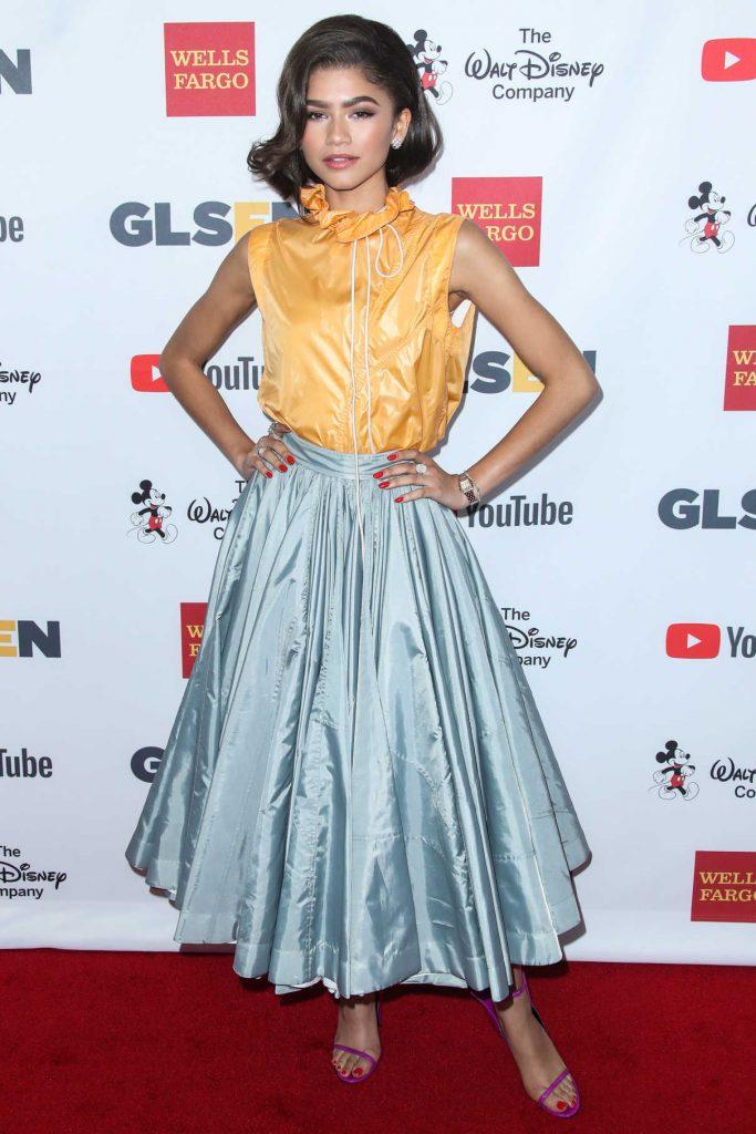 Zendaya at the 2017 GLSEN Respect Awards in Beverly Hills 10/20/2017-1