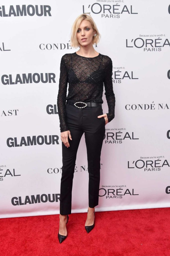 Anja Rubik at 2017 Glamour Women of the Year Awards in NYC 11/13/2017-1