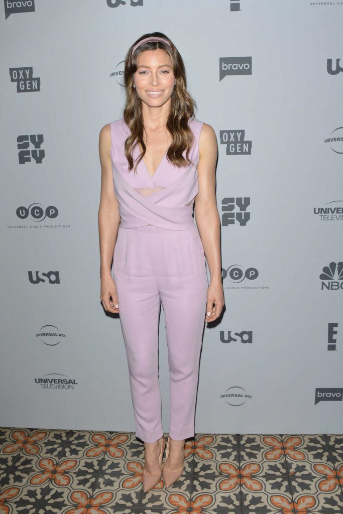 Jessica Biel at NBCUniversal Press Junket at Beauty and Essex in Los Angeles 11/13/2017-1