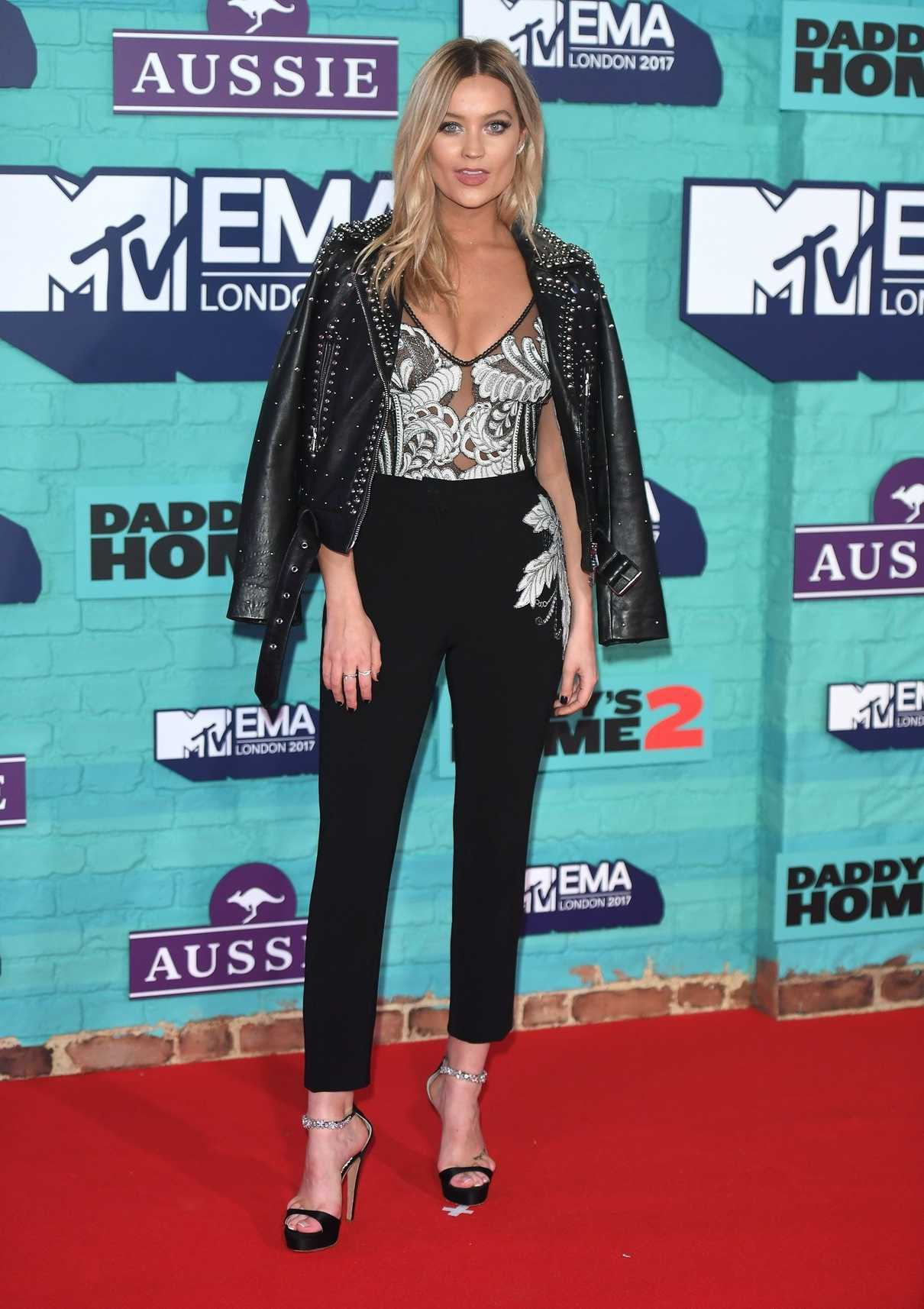 Laura Whitmore at the 24th MTV Europe Music Awards in London 11/12/2017-2