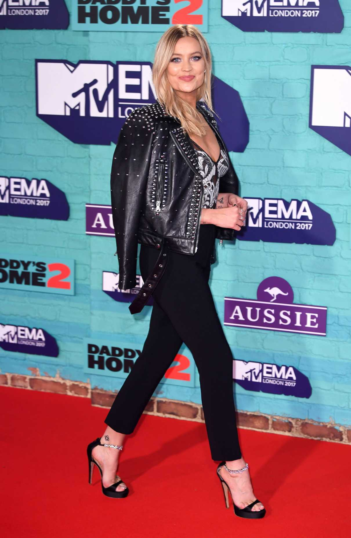 Laura Whitmore at the 24th MTV Europe Music Awards in London 11/12/2017-3