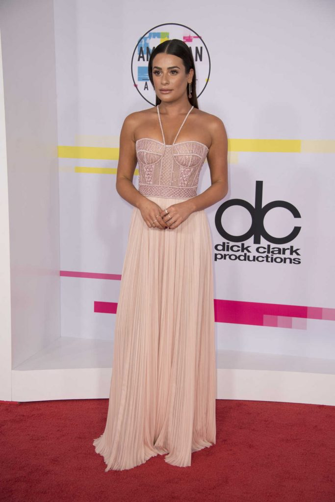 Lea Michele at 2017 American Music Awards at the Microsoft Theater in Los Angeles 11/19/2017-1