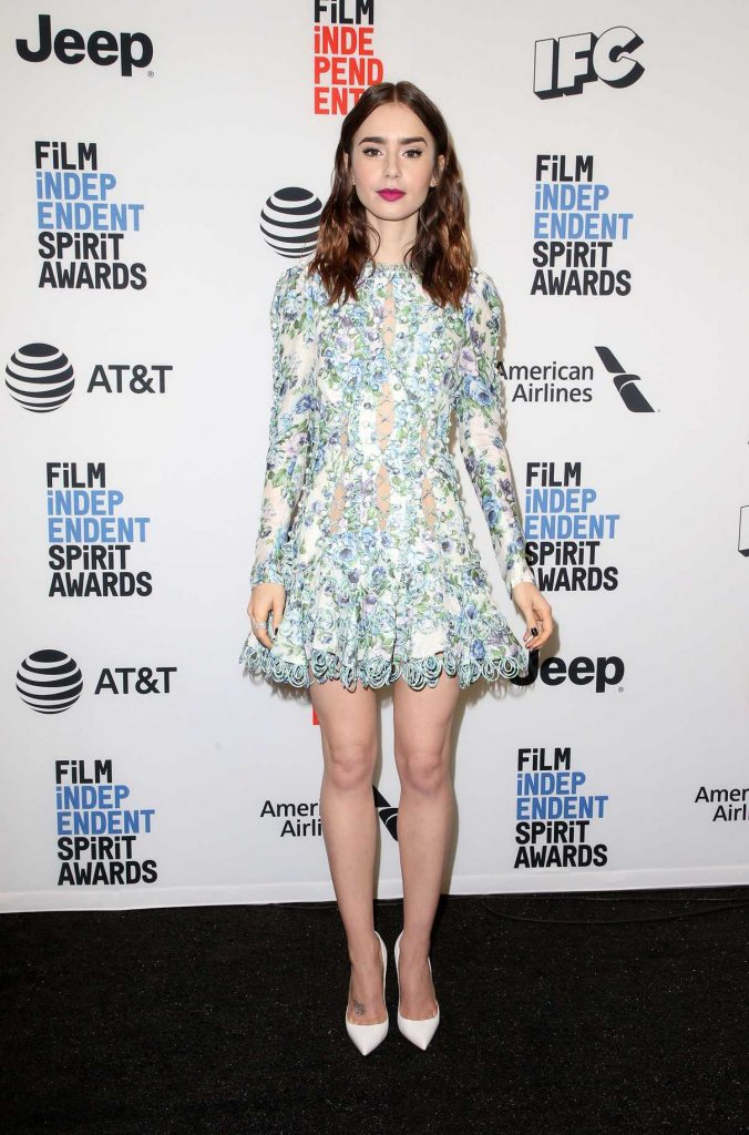 Lily Collins at the 33rd Film Independent Spirit Awards Nominees Announcement in Los Angeles 11/21/2017-1