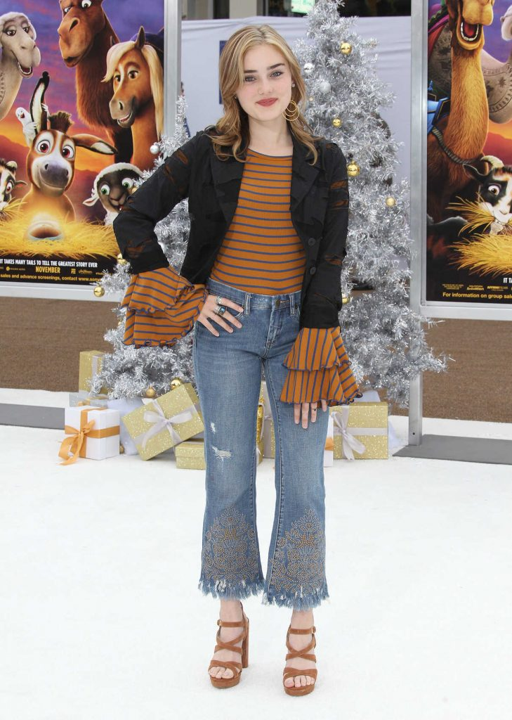 Meg Donnelly at The Star Premiere at the Regency Village Theatre in Los Angeles 11/12/2017-1