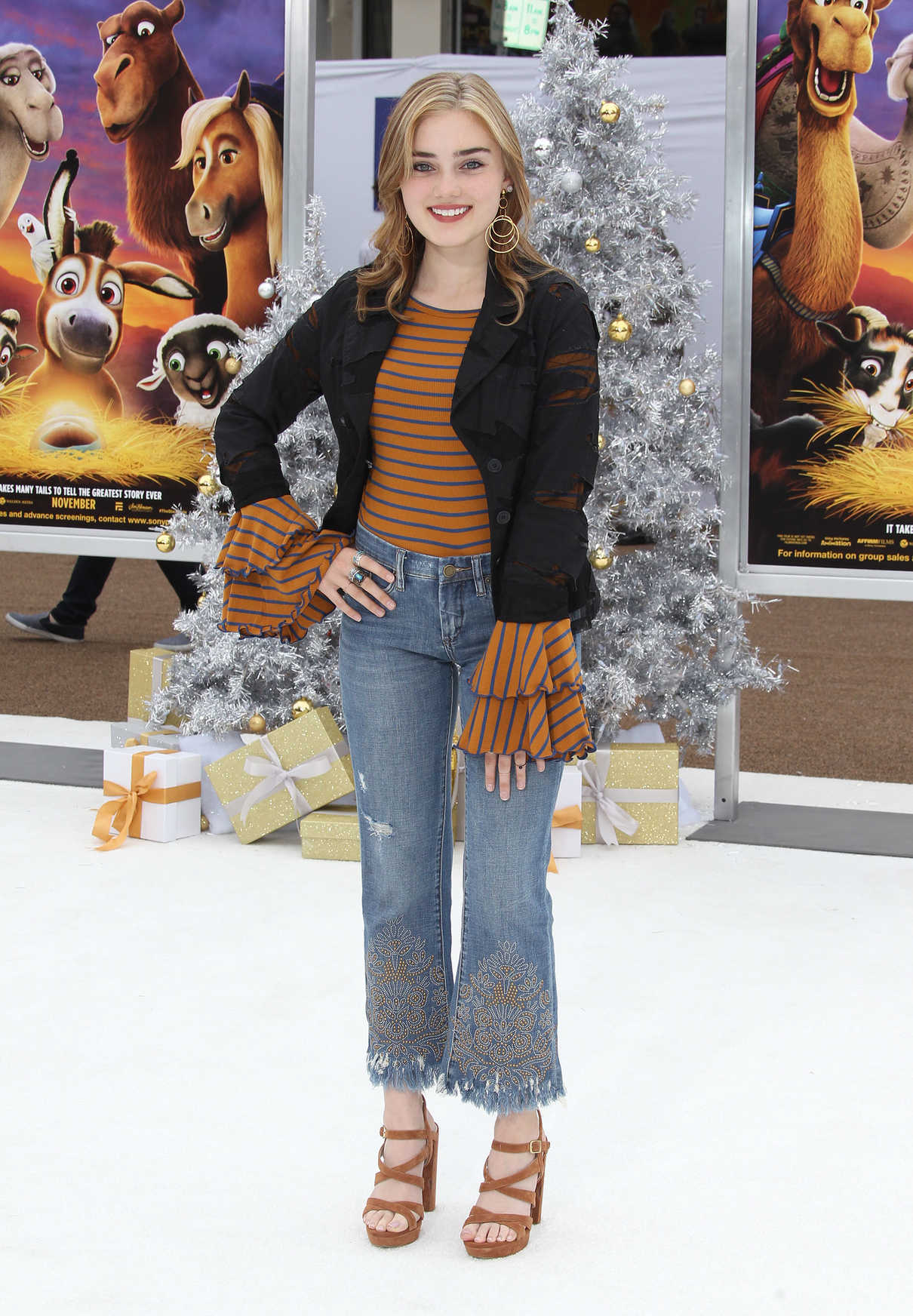 Meg Donnelly at The Star Premiere at the Regency Village Theatre in Los Angeles 11/12/2017-3