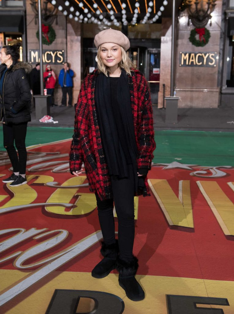 Olivia Holt at the Macy's Thanksgiving Day Parade Rehearsals in NYC 11/21/2017-1