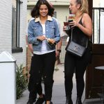 Selena Gomez Grabs an Ice Tea With a Friend at Alfred Coffee in Studio City 11/02/2017-2