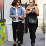 Selena Gomez Grabs an Ice Tea With a Friend at Alfred Coffee in Studio City 11/02/2017-3