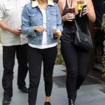 Selena Gomez Grabs an Ice Tea With a Friend at Alfred Coffee in Studio City 11/02/2017-4