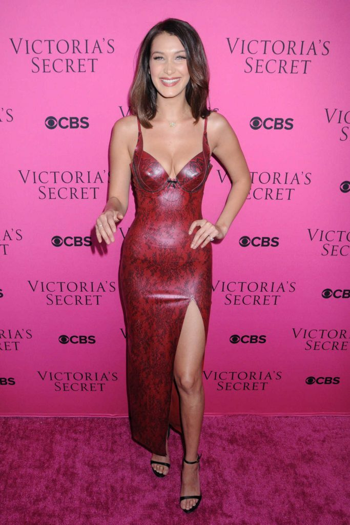Bella Hadid at 2017 Victoria's Secret Fashion Show in New York 11/28/2017-1