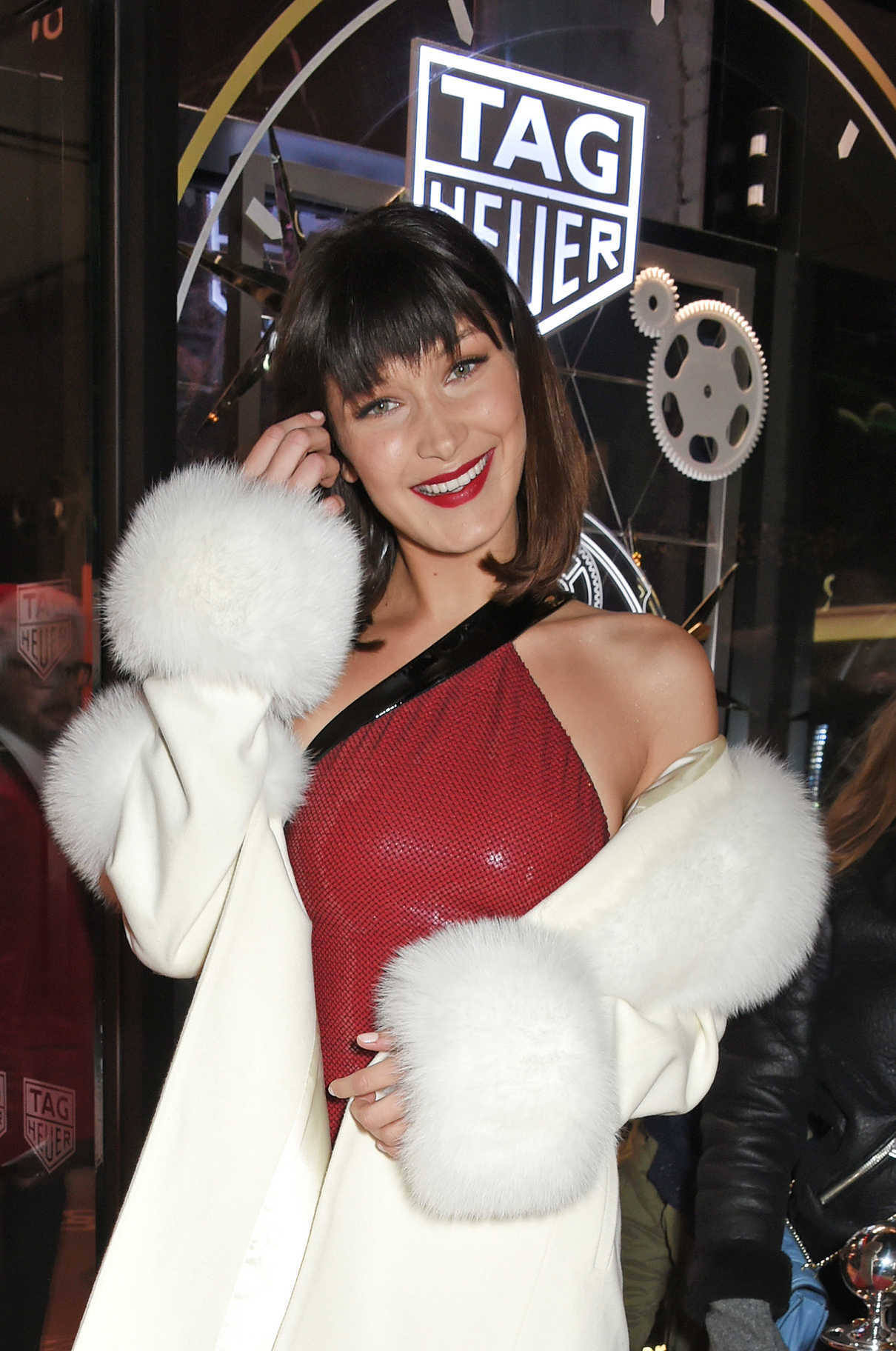 Bella Hadid at the TAG Heuer Flagship Store Opening on Oxford Street in London 12/08/2017-5