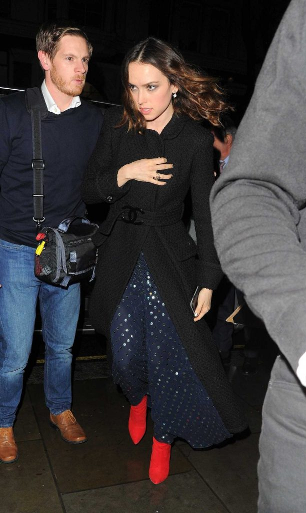 Daisy Ridley Arrives at the Star Wars: The Last Jedi Premiere After Party in London 12/13/2017-2