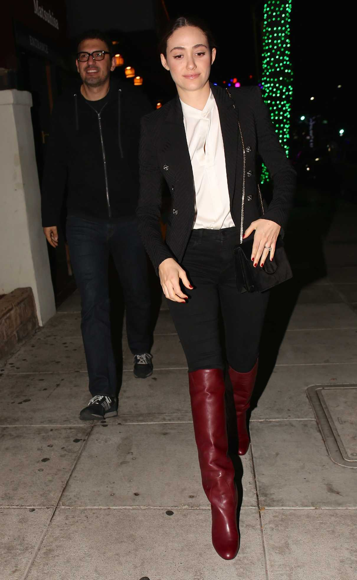Emmy Rossum Out for Dinner at Matsuhisa Restaurant in Los Angeles 12/11/2017-2