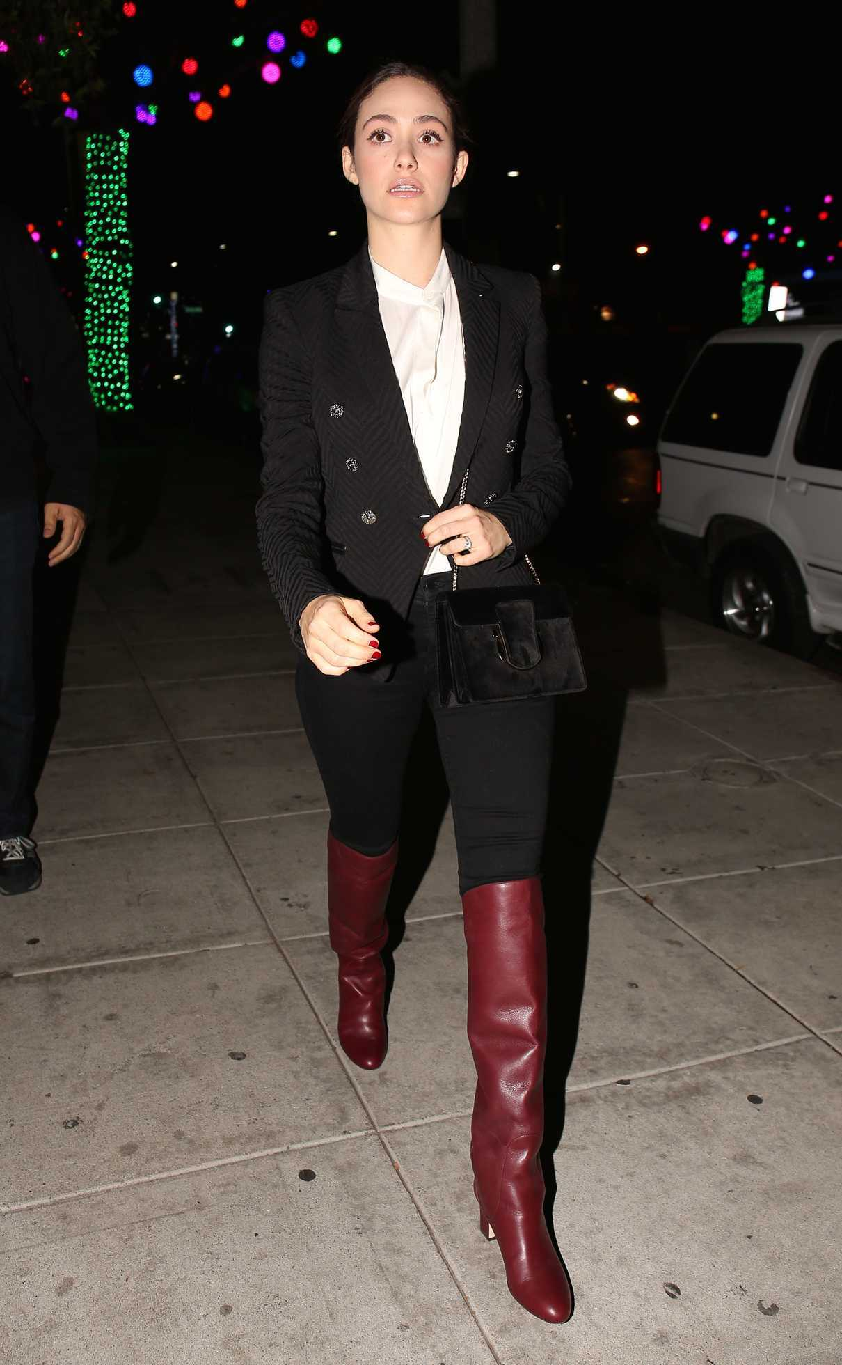 Emmy Rossum Out for Dinner at Matsuhisa Restaurant in Los Angeles 12/11/2017-4