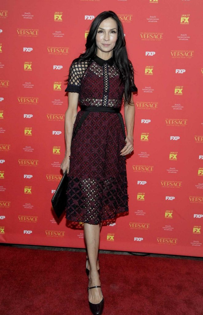 Famke Janssen at The Assassination of Gianni Versace: American Crime Story Screening at Metrograph in New York City 12/11/2017-1