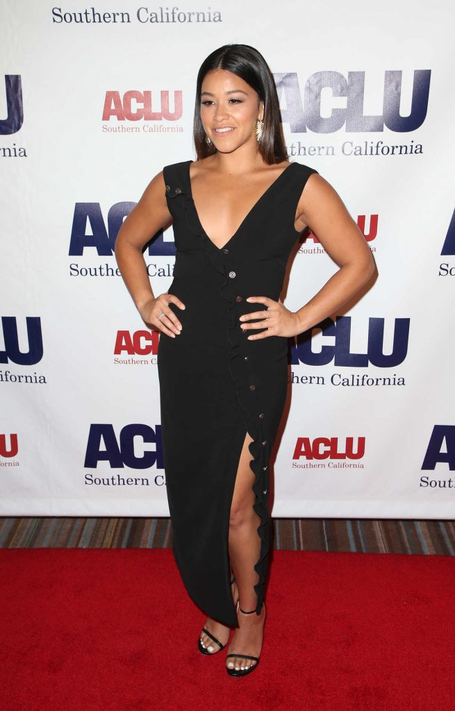 Gina Rodriguez at ACLU SoCal's Annual Bill of Rights Dinner at the Beverly Wilshire Four Seasons Hotel in Beverly Hills 12/03/2017-1