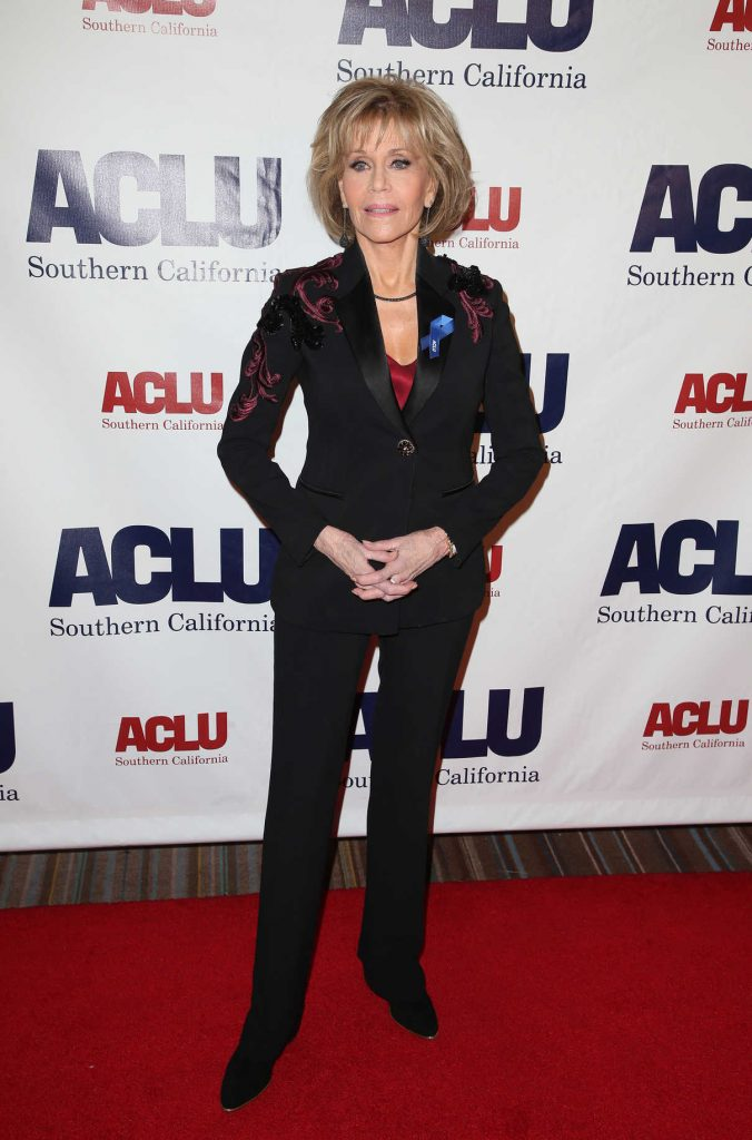 Jane Fonda at ACLU SoCal's Annual Bill of Rights Dinner at the Beverly Wilshire Four Seasons Hotel in Beverly Hills 12/03/2017-1