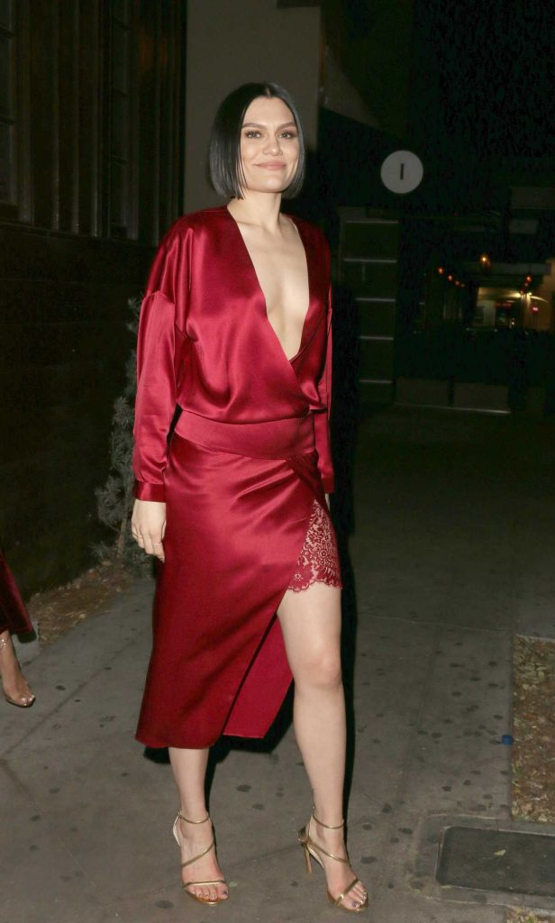 Jessie J Leaves the Peppermint Club in Los Angeles 12/17/2017-1