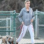 Joanna Krupa Takes Her Dogs to the Dog Park in Hollywood 12/11/2017-3