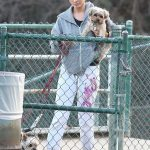 Joanna Krupa Takes Her Dogs to the Dog Park in Hollywood 12/11/2017-4