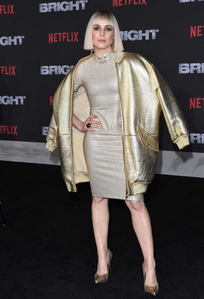 Noomi Rapace at the Bright Premiere at Regency Village Theatre in Los Angeles 12/13/2017-1