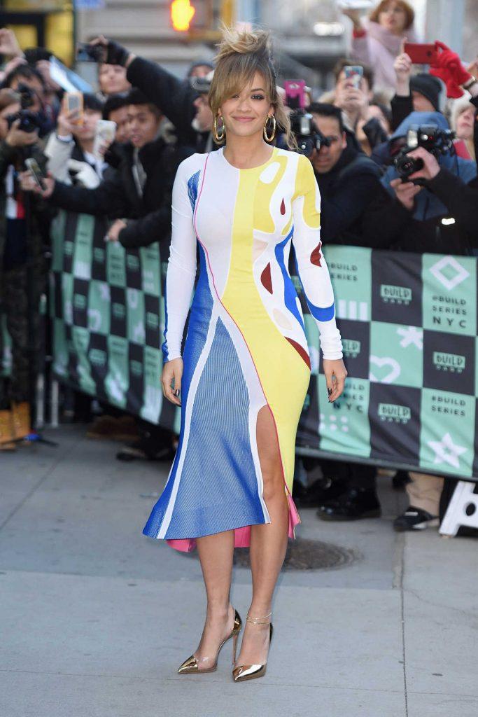 Rita Ora Arrives at AOL Build Studios in NYC 12/07/2017-1