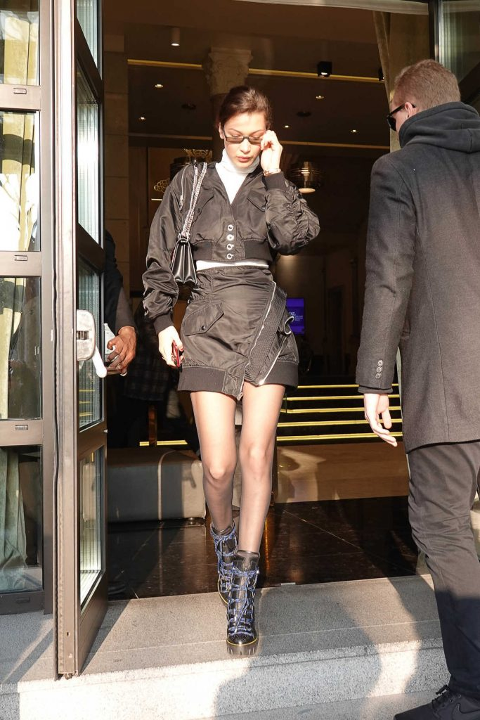 Bella Hadid Was Seen Out in Milan 01/14/2018-1